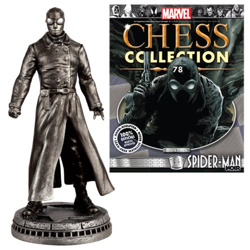 Marvel Spider-Man Noir White Pawn Chess Piece with Collector Magazine #78