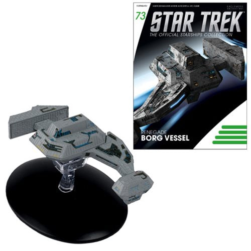 Star Trek Starships Renegade Borg Vessel Vehicle with Collector Magazine #73