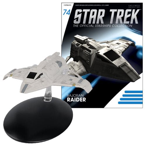 Star Trek Starships Bajoran Raider Vehicle with Collector Magazine #74