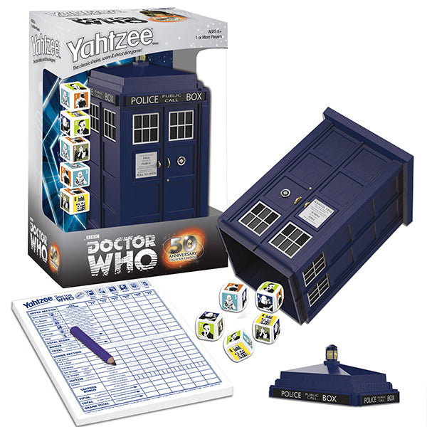 Doctor Who Yahtzee 50th Anniversary Collector's Edition Game