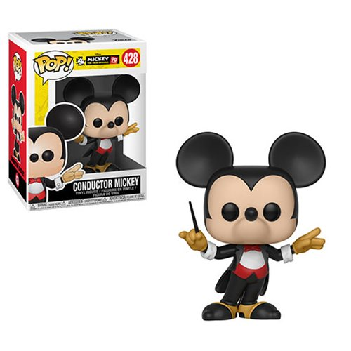 Preorder Mickey's 90th Conductor Mickey Pop! Vinyl Figure #428