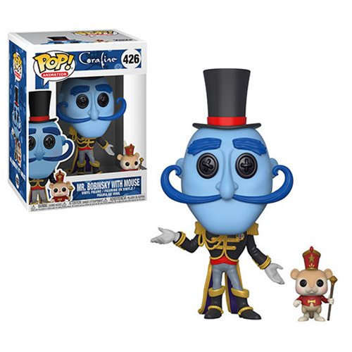 Preorder Coraline Mr. Bobinsky with Mouse Pop! Vinyl Figure #426