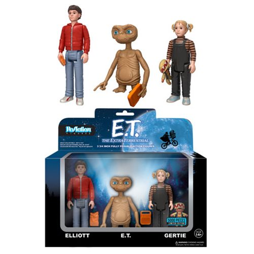 Preorder FEB 2017 E.T. ReAction Action Figure 3-Pack - Toy Wars - Funko