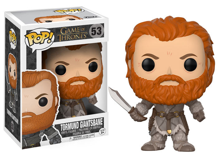 Preorder August 2017 Game of Thrones Tormund Pop! Vinyl Figure