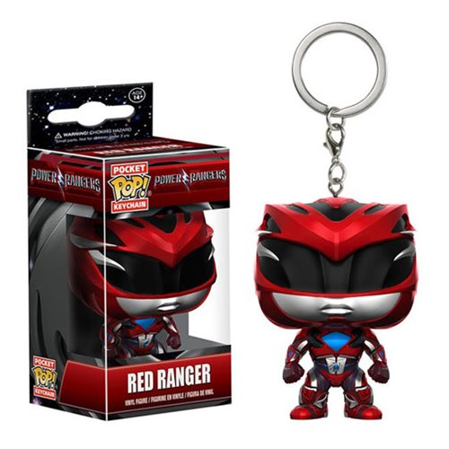 Preorder FEB 2017 Power Rangers Movie Red Ranger Pocket Pop! Key Chain - Toy Wars - Funko