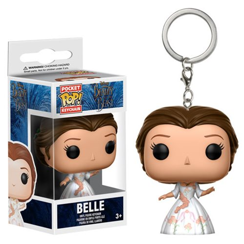 Preorder FEB 2017 Beauty and the Beast Live Action Belle Celebration Outfit Pocket Pop! Key Chain - Toy Wars - Funko
