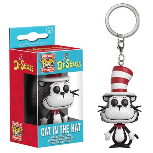 Preorder February 2017 Dr. Seuss Cat in the Hat Pocket Pop! Key Chain - Toy Wars - Funko