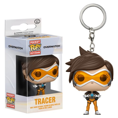 Preorder September 2017 Overwatch Tracer Pocket Pop! Key Chain