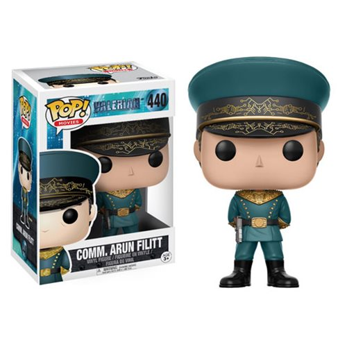 Preorder July 2017 Valerian Commander Arun Filitt Pop! Vinyl Figure
