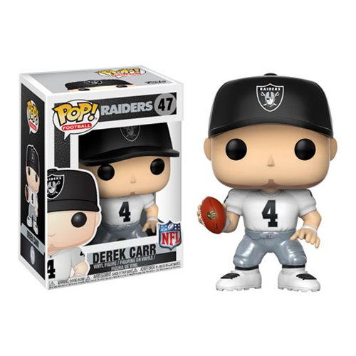 Preorder October 2017 NFL Derek Carr Raiders Away Wave 4 Pop! Vinyl Figure #47