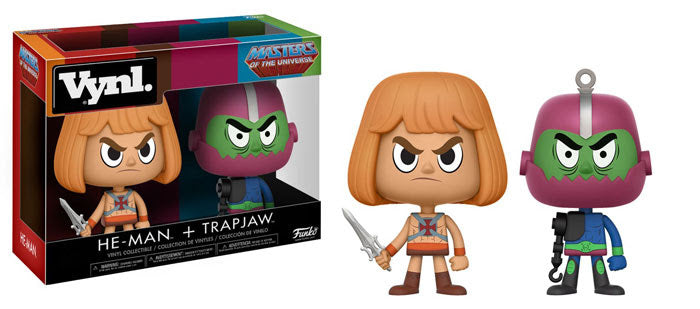 Masters of the Universe He-Man and Trap Jaw VYNL Figure 2-Pack