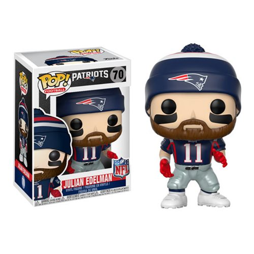 Preorder October 2017 NFL Julian Edelman Patriots Home Wave 4 Pop! Vinyl Figure #70