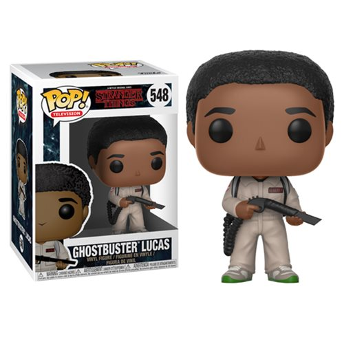 Preorder  Stranger Things Ghostbusters Lucas Pop! Vinyl Figure #548