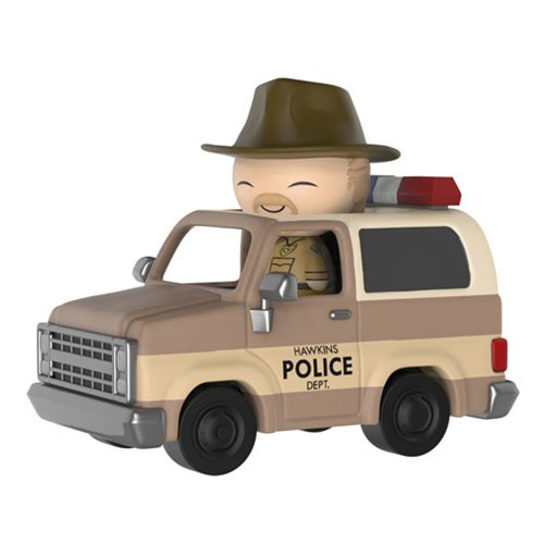 Preorder December 2017 Stranger Things Hopper with Sheriff Deputy Truck Dorbz Ridez Figure