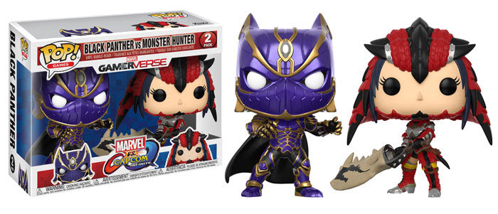 Preorder August 2018 Marvel Vs Capcom Black Panther Vs Monster Hunter Pop! Vinyl 2-Pack