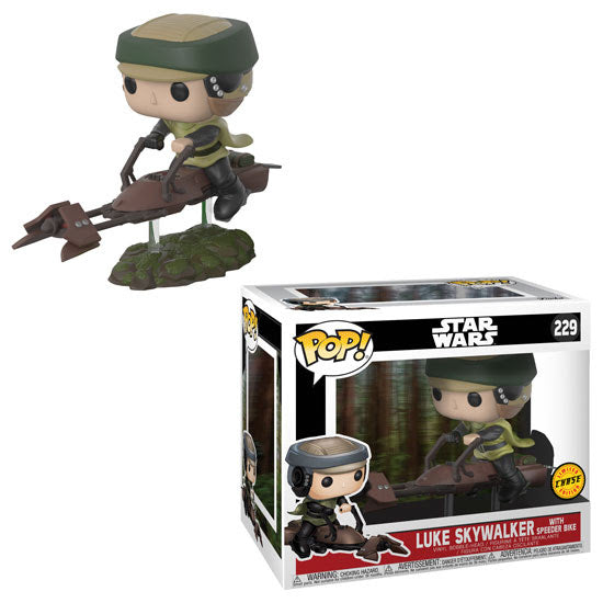 Star Wars Luke on Speeder Bike Chase POP! Vinyl Figure