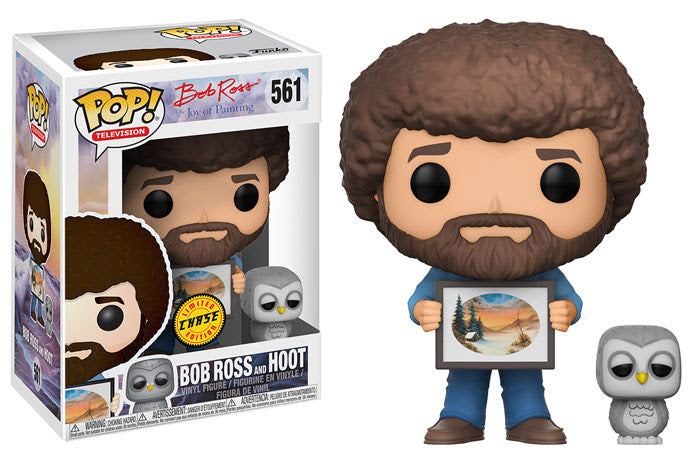 Preorder August 2018 Bob Ross with Hoot Chase Pop! Vinyl Figure #561