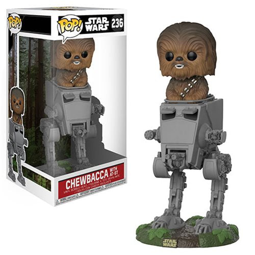 Preorder September 2018 Star Wars Chewbacca in AT-ST Deluxe Pop! Vinyl #236