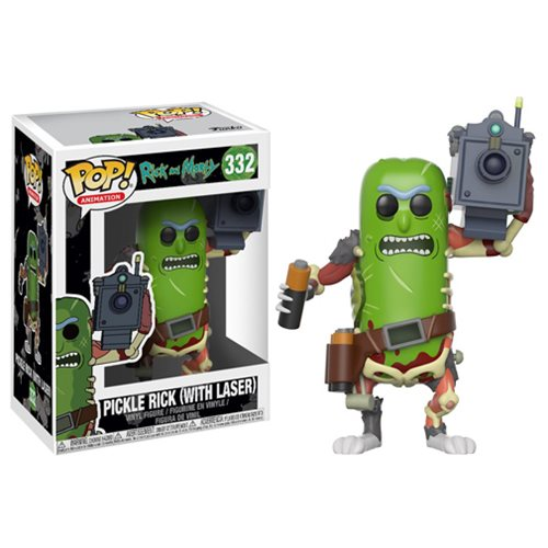 Preorder  Rick and Morty Pickle Rick with Laser Pop! Vinyl Figure #332