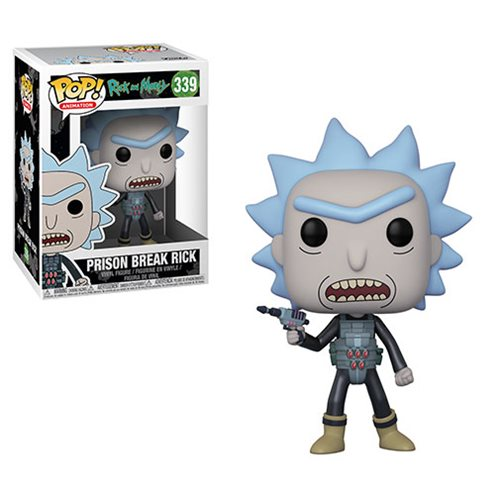 Preorder August 2018 Rick and Morty Prison Escape Rick Pop! Vinyl Figure #339