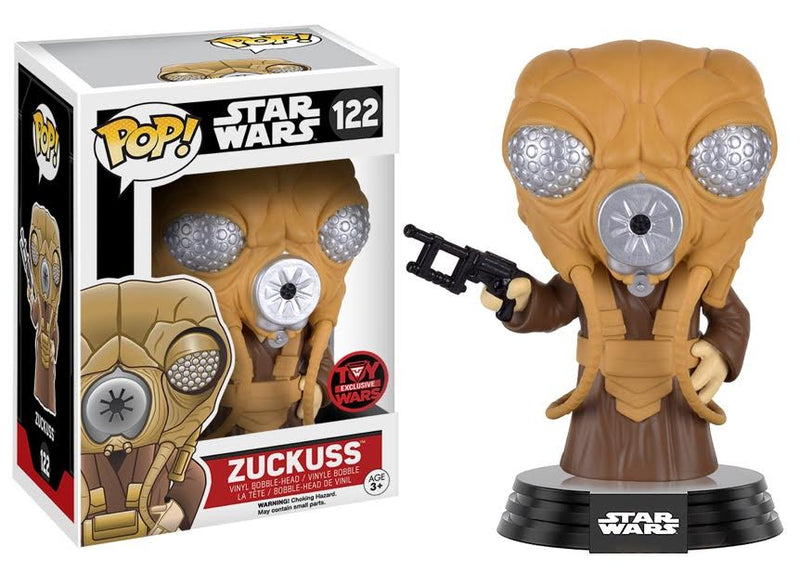 Toy Wars Exclusive Star Wars Zuckuss Pop! Vinyl Figure - DAMAGED BOX - Toy Wars - Funko