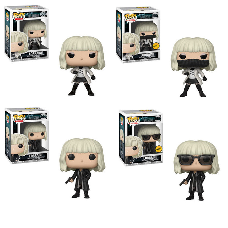 Preorder April 2018 Atomic Blonde Pop! Vinyl Figures Set of 4 with Chases