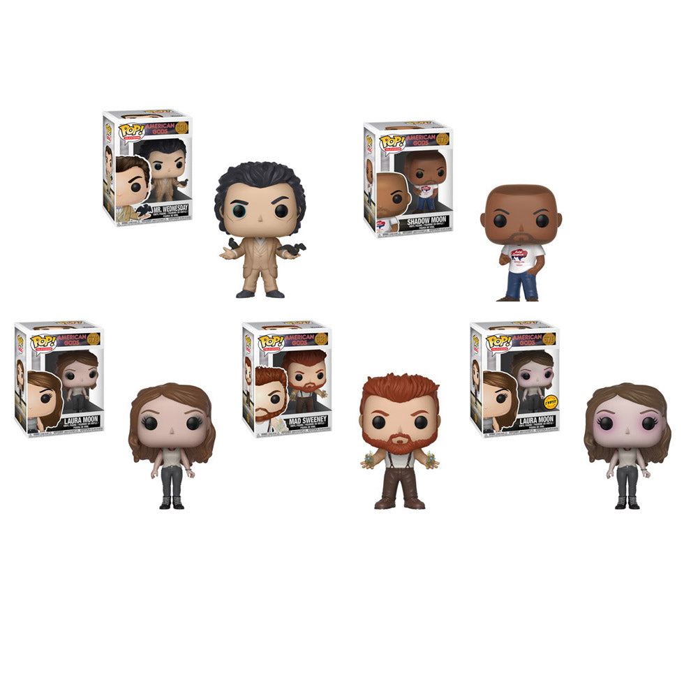 American Gods Pop! Vinyl Figures Set of 5 with Chase