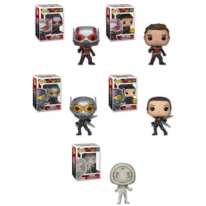 Preorder July 2018 Ant-Man & The Wasp Pop! Vinyl Figures Set of 5 with Chases