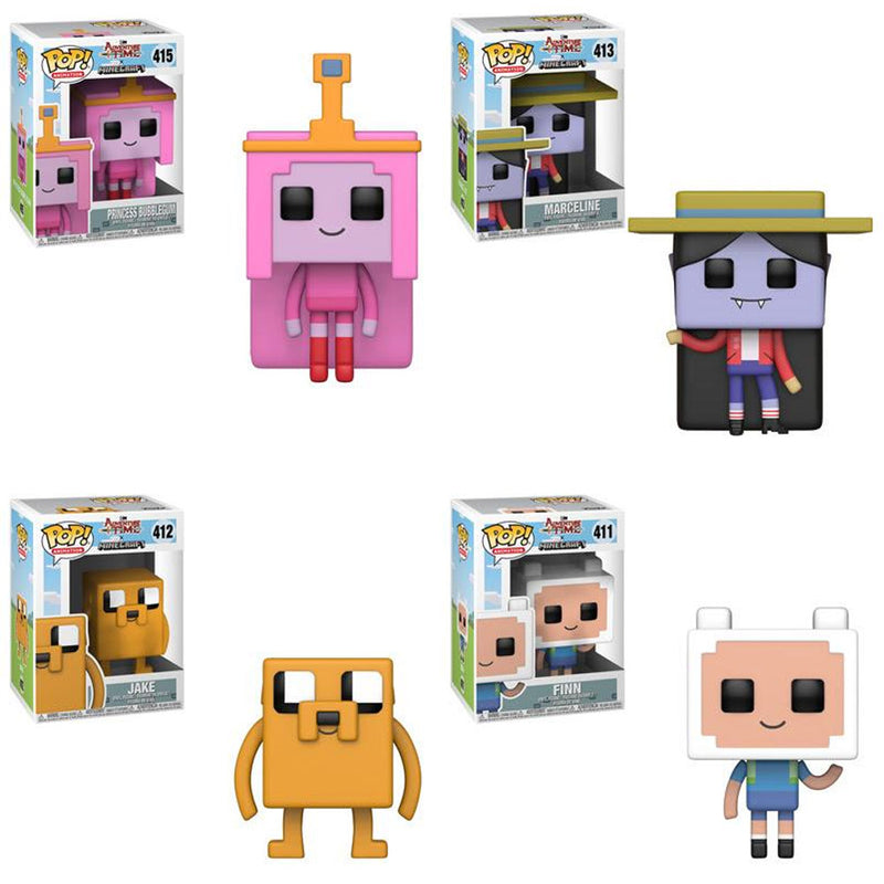 Adventure Time Minecraft Pop! Vinyl Figures Set of 4