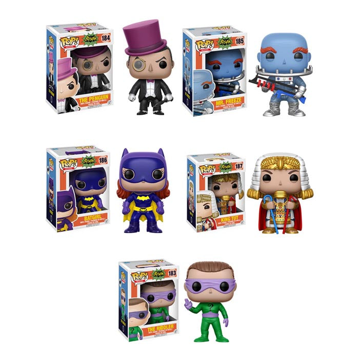 Preorder June 2017 Batman 1966 TV Series Pop! Vinyl Figures Set of 5
