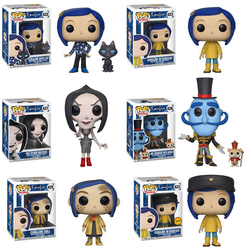 Preorder Coraline Coraline Pop! Vinyl Figures Set of 6 with Chase
