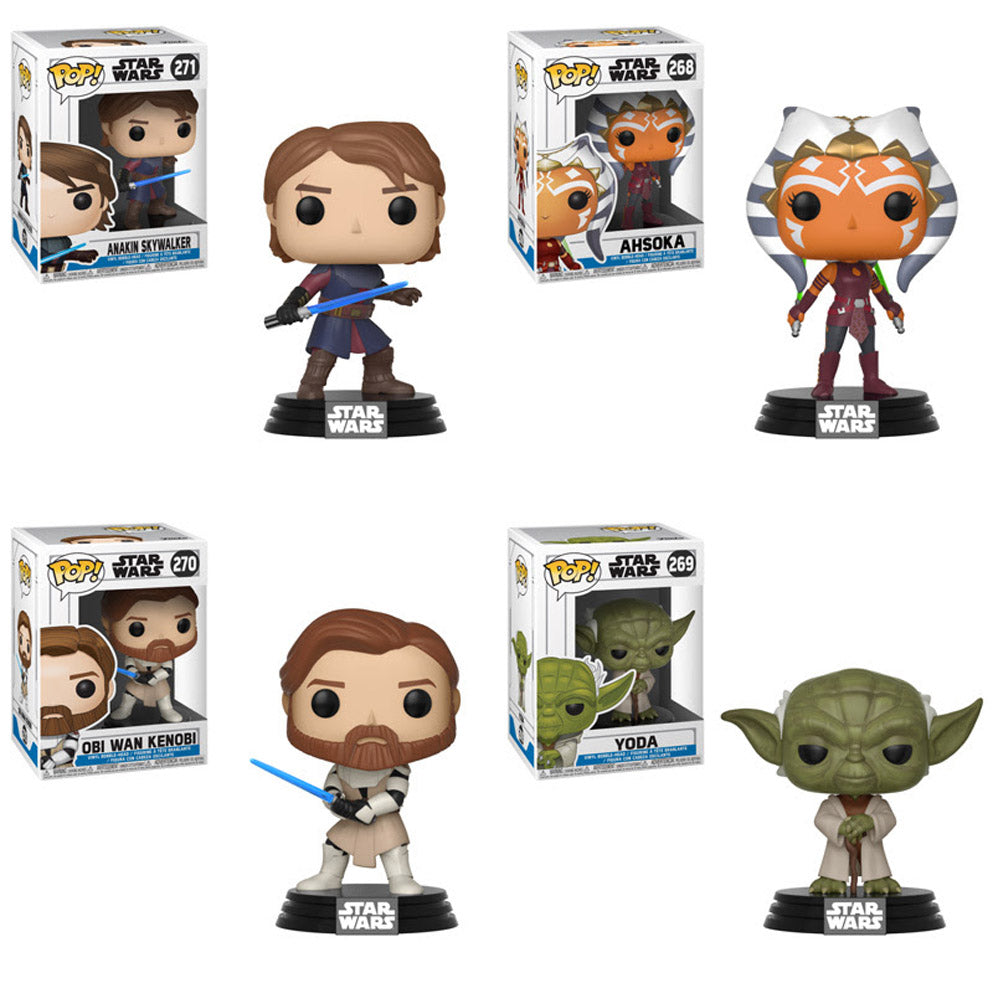 Star Wars: The Clone Wars Pop! Vinyl Figures Set of 4