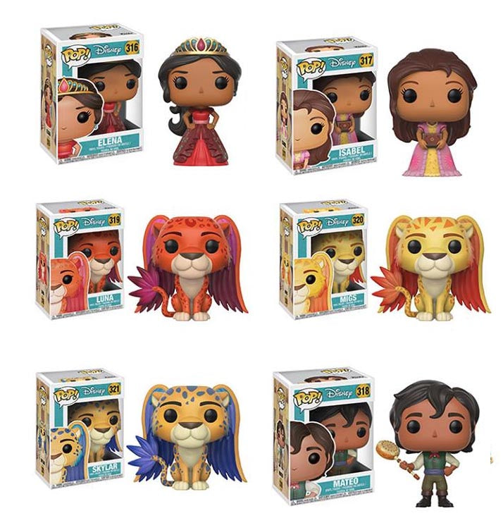 Elena of Avalor Pop! Vinyl Figures Set of 6