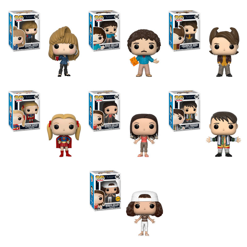 Preorder Friends Series 2 Pop! Vinyl Figures Set of 7 with Chase