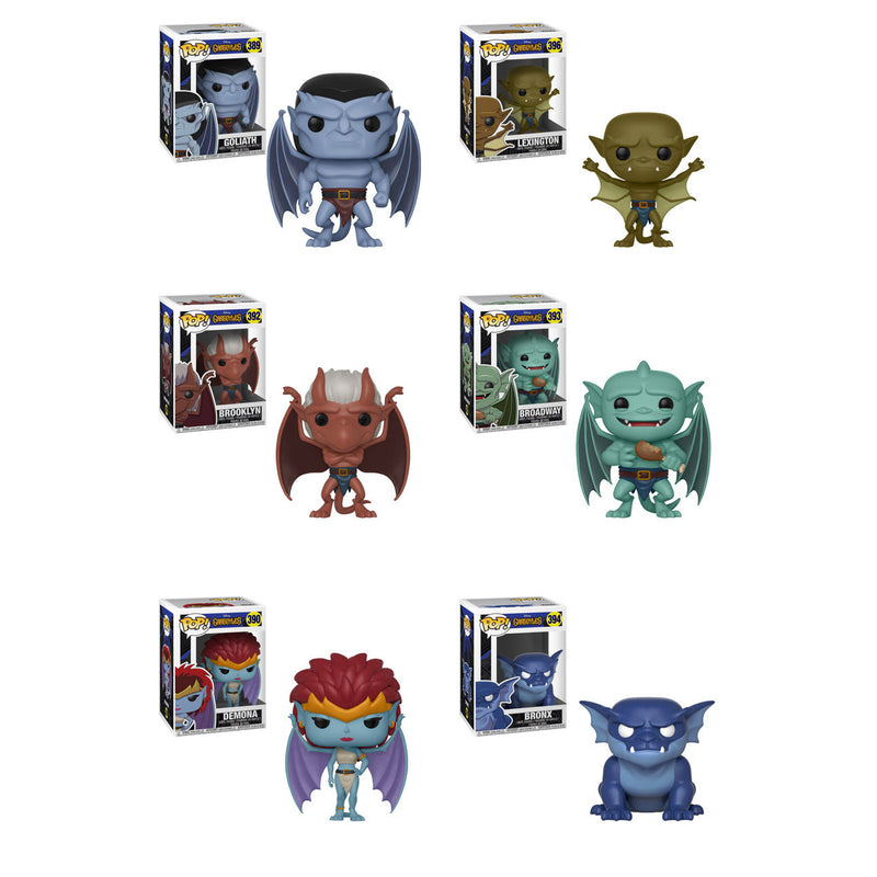 Preorder August 2018 Gargoyles Pop! Vinyl Figures Set of 6