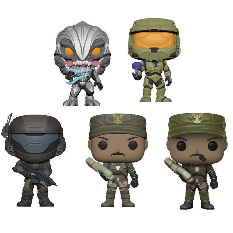 Preorder June 2018 Halo Pop! Vinyl Figures Set of 5 with Chase