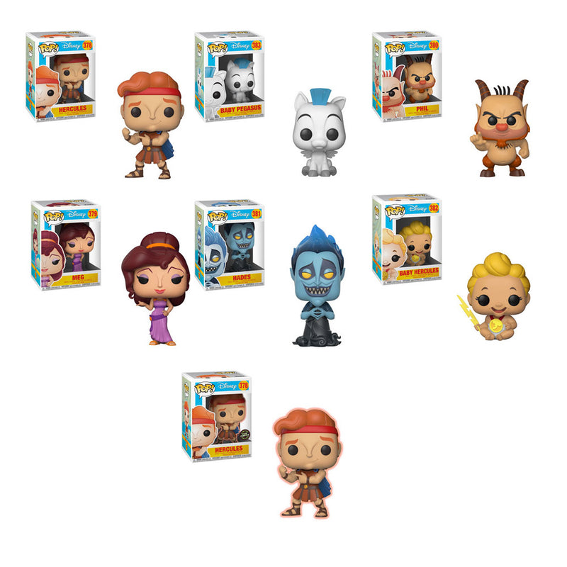 Preorder August 2018 Hercules Pop! Vinyl Figures Set of 7 with Chase