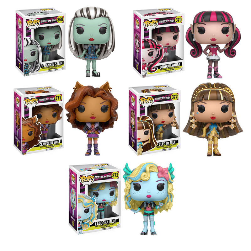 Monster High Pop! Vinyl Figure Set of 5 - Toy Wars - Funko