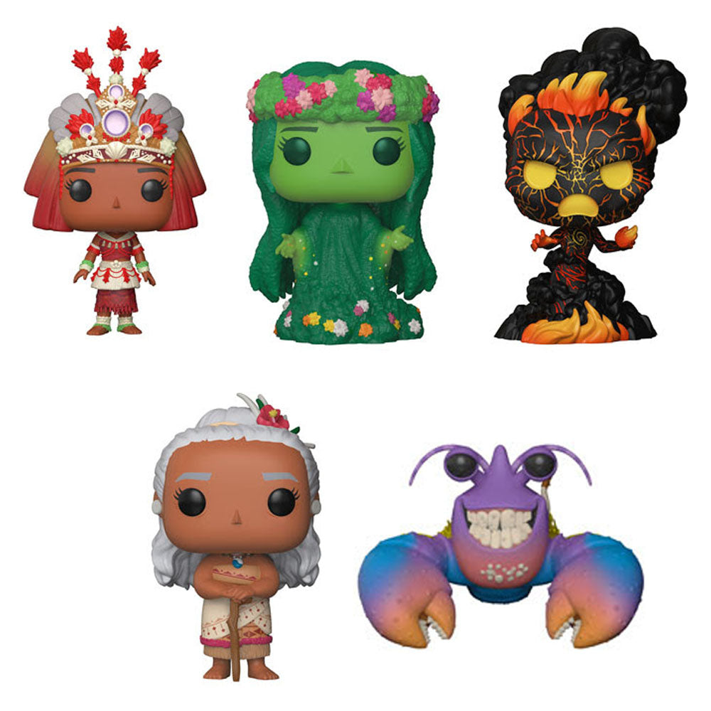 Preorder June 2018 Moana Pop! Vinyl Figures Set of 5