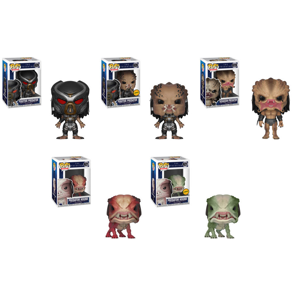 Preorder The Predator Pop! Vinyl Figures Set of 5 with Chases