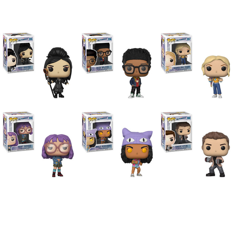 Preorder Runaways Pop! Vinyl Figures Set of 6