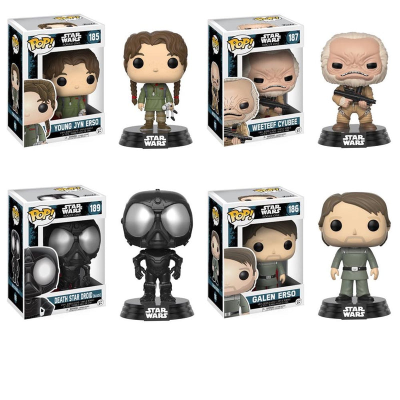 Preorder September 2017 Rogue One Pop! Vinyl Bobble Head Set of 4