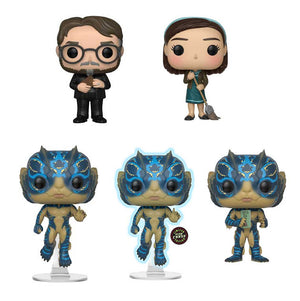 Preorder September 2018 Shape of Water Pop! Vinyl Figures Set of 5 with Chase