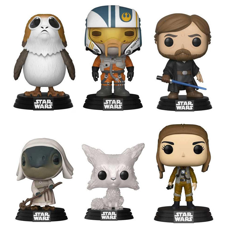 Preorder 2018 Star Wars The Last Jedi Wave 2 POP! Vinyl Figures Set of 6