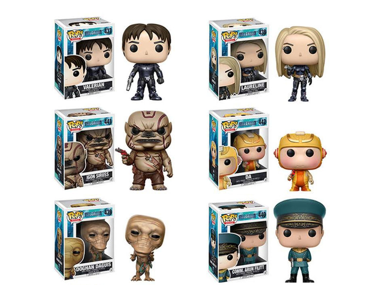 Preorder July 2017 Valerian Pop! Vinyl Figures Set of 6
