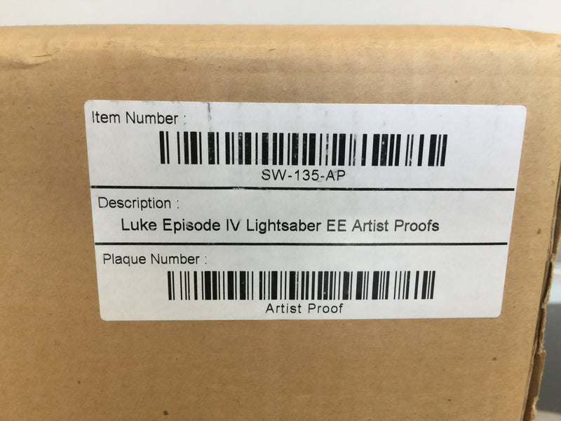 Master Replicas Luke Skywalker Elite ANH Lightsaber Artist Proof