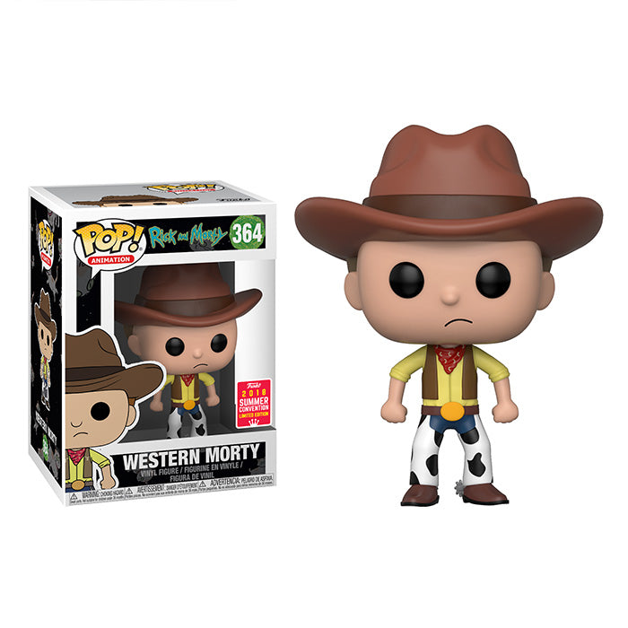 SDCC 2018 Summer Convention Exclusive Rick and Morty: Western Morty Pop! Vinyl Figure