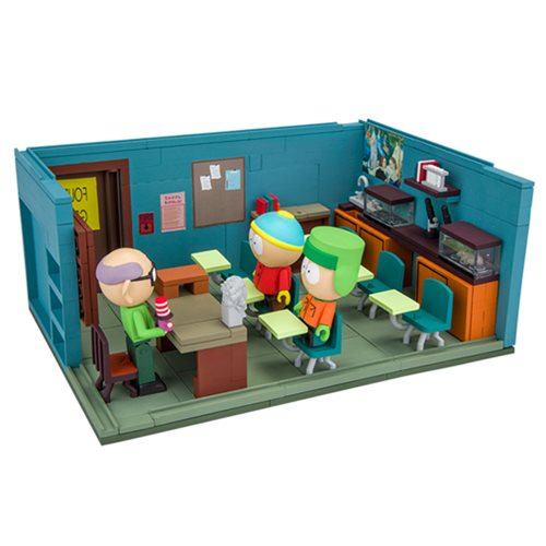 Preorder September 2017 South Park Mr. Garrison Kyle and Cartman with the Classroom Large Construction Set