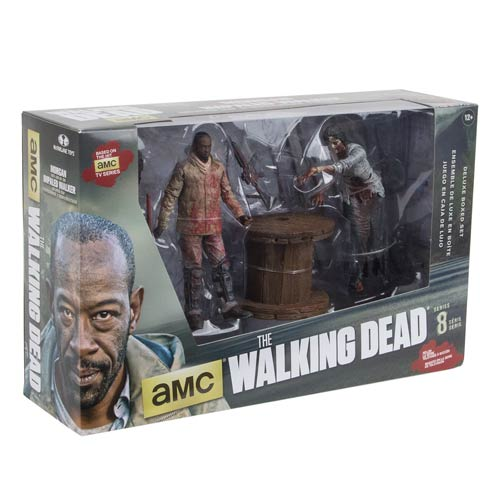 Walking Dead TV Series Deluxe Box Set - Morgan With Walker & Trap Figures