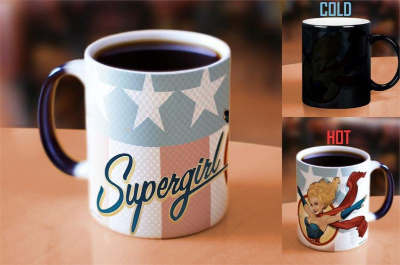 DC Comics Justice League (Supergirl Bombshell) Morphing Mugs Heat-Sensitive Mug